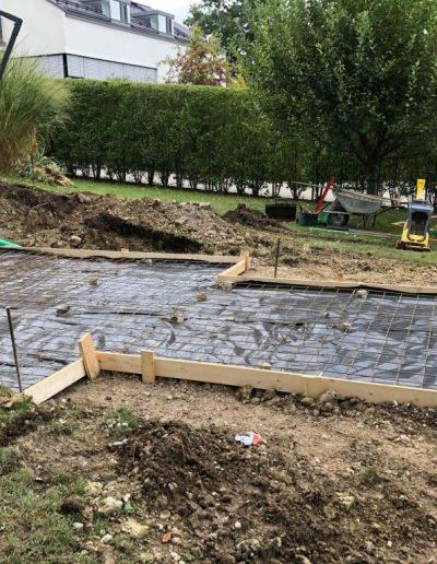 Fundament für einen Swimspa 1