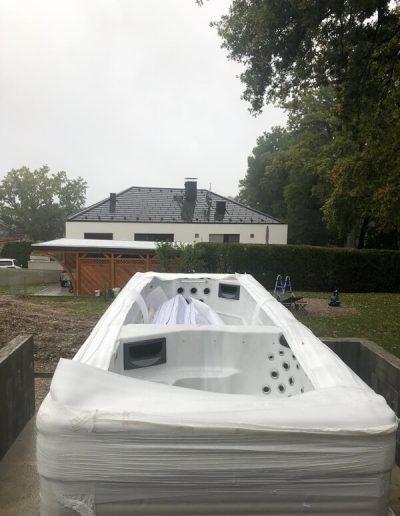 Fundament für einen Swimspa 2