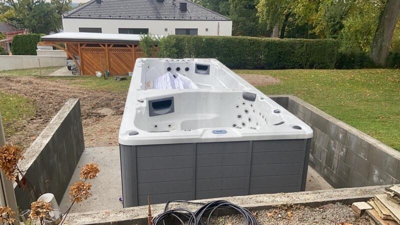 Fundament für einen Swimspa 3